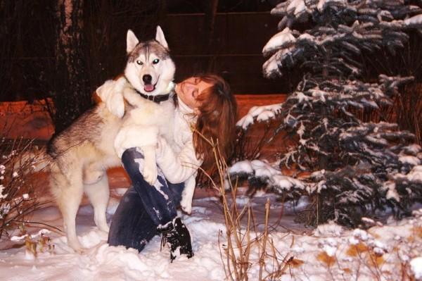 фото Лены Носовой с собакой!